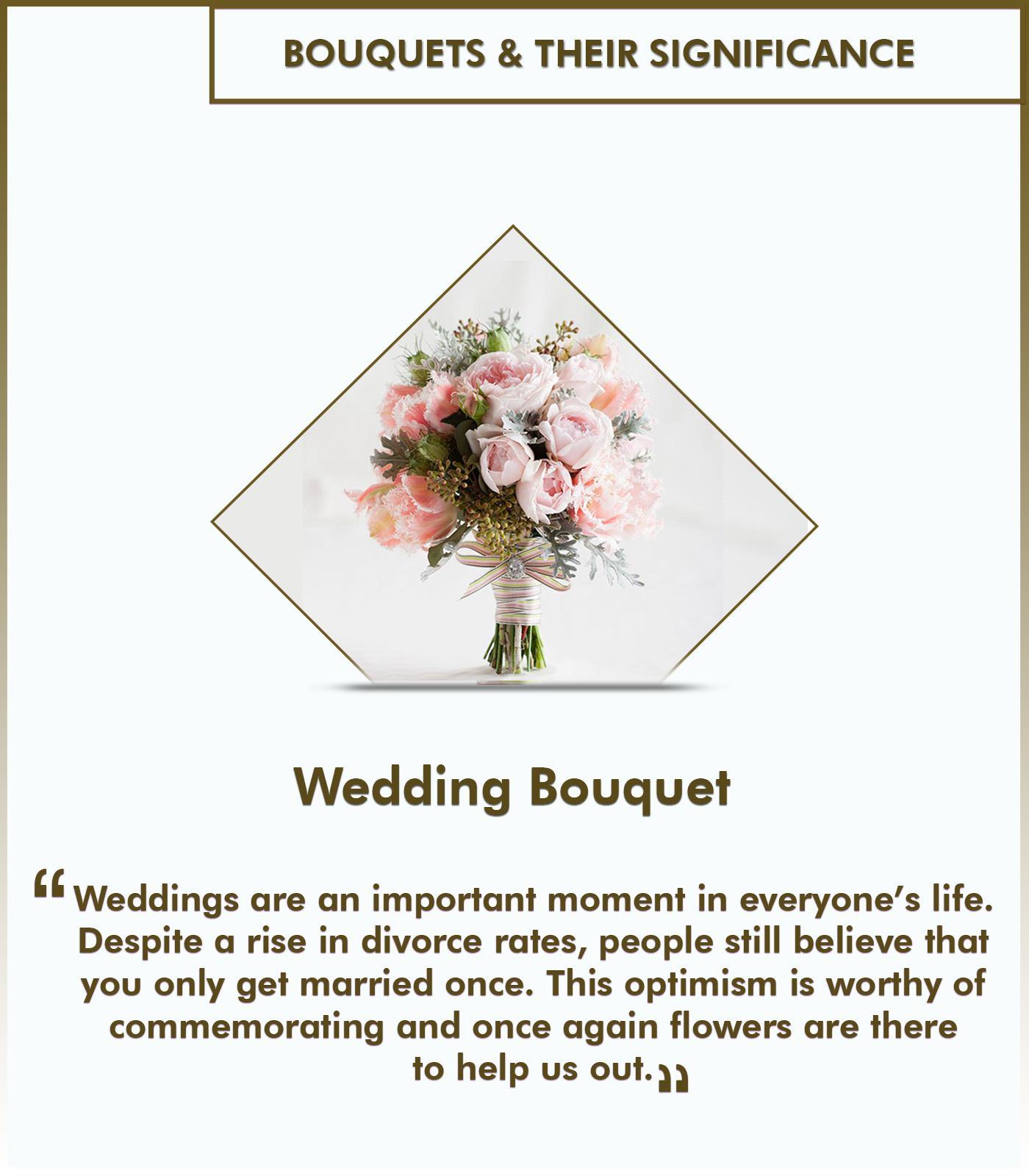 Types of bouquets and their significance - Wedding bouquet