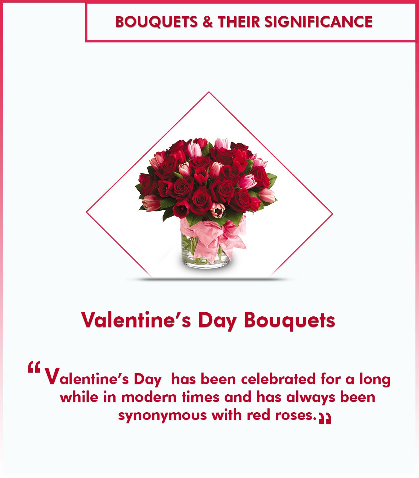 Types of bouquets and their significance - Valentine's day bouquets