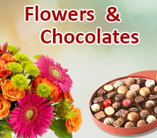 Flowers & Chocolate For Diwali India