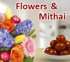 Flowers & Mithai For Diwali India
