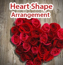 Heart Shape Flowers Arrangment India