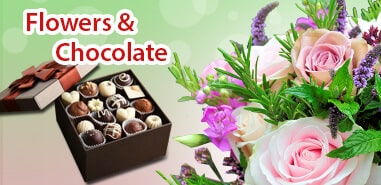 Valentine Flowers & Chocolate India