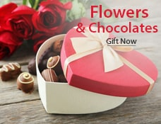 Valentine Day flowers & cake