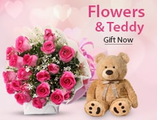 Valentine Flowers & Teddy India