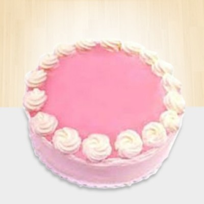 Strawberry Cake 1/2 Kg Eggless
