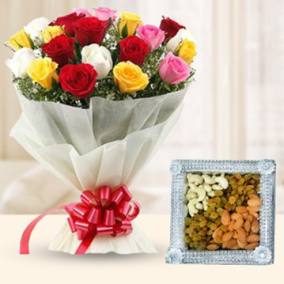 Mix Roses and Dry Fruits