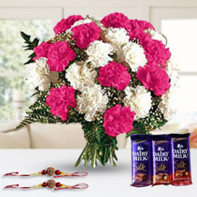 Flowers & Chocolate & Rakhi