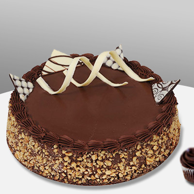 Premium Chocolate Walnut Truffle Cake