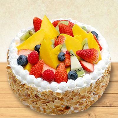 Fresh Fruit Cake 1kg Premium
