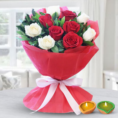 Royal White & Red Bouquet