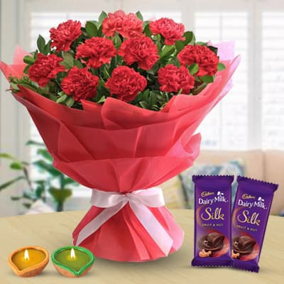 Red Bouquet & Chocolate