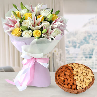 Diwali Flowers & Dry Fruits