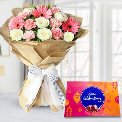 Diwali Flowers & Chocolates