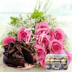 Flowers,Cake & Chocolates